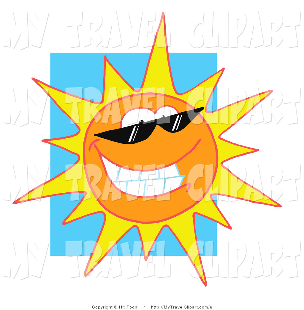 1024x1044 Clipart Of A Cool Sun Shining Brightly By Hit Toon