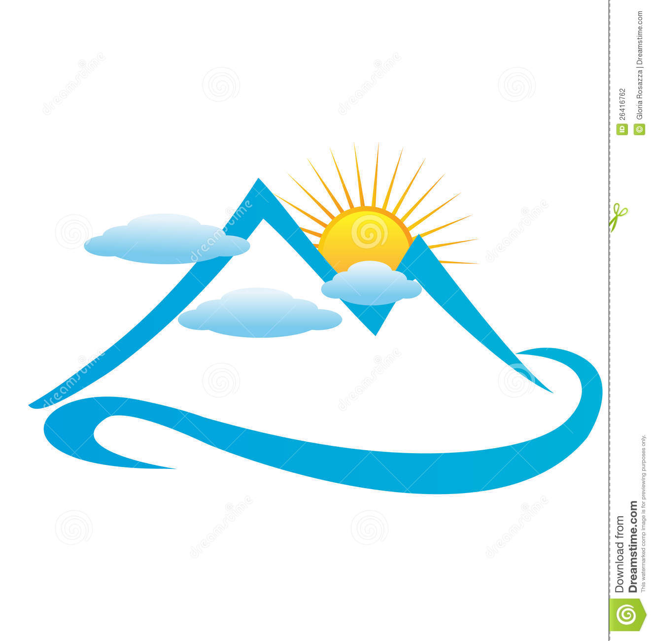 1325x1300 Mountan In Cloud Clipart