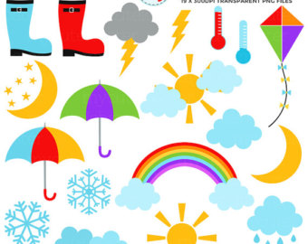 340x270 Rainbows Clipart 23 Files. Weather 6 Cliparts. Colorful Printable