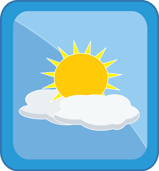 325x350 Sun And Clouds Clipart 2035872