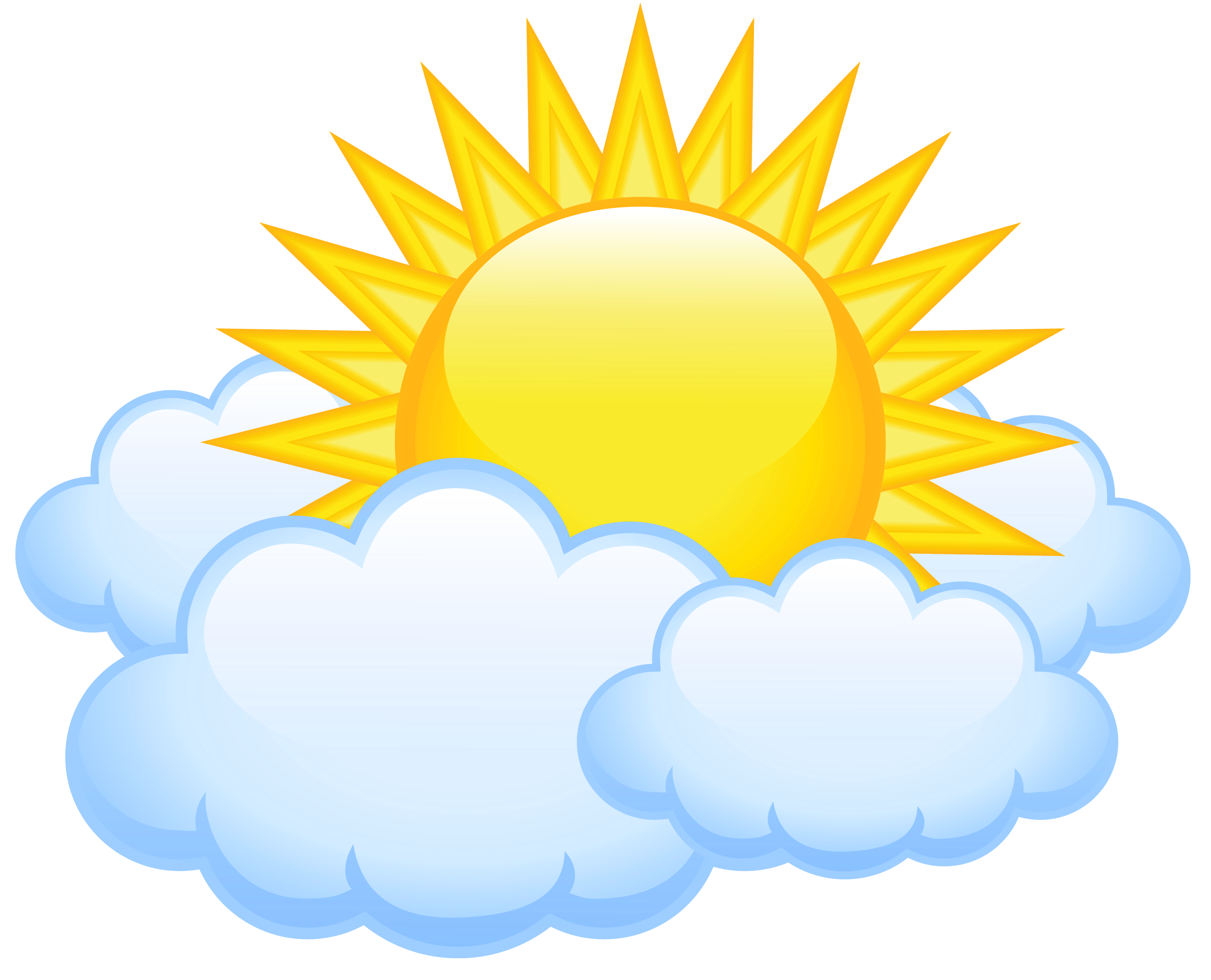 2835x2295 Sun And Clouds Clipart
