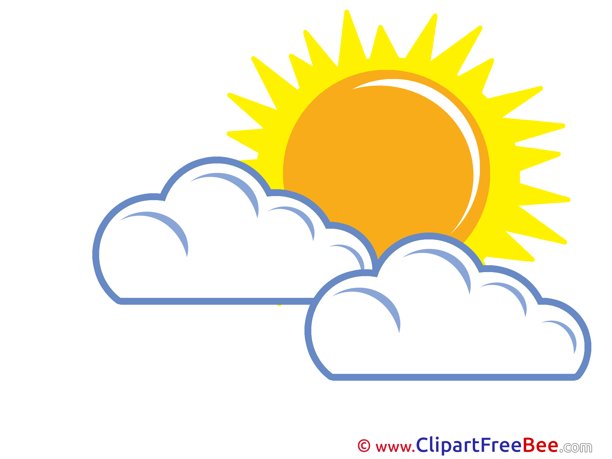 2400x1800 Warm Weather Sun Clouds Clipart Free Illustrations