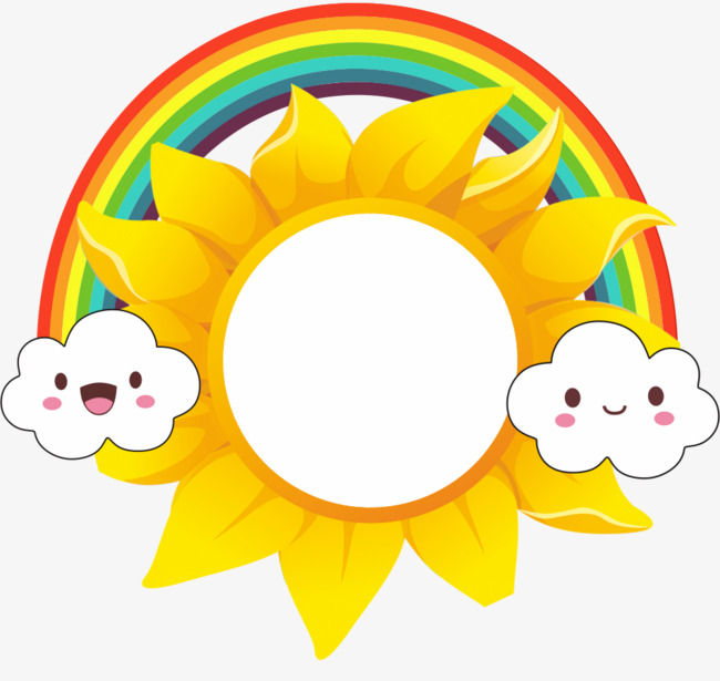 650x615 Sun, Clouds, Rainbow, Frame Png Image For Free Download