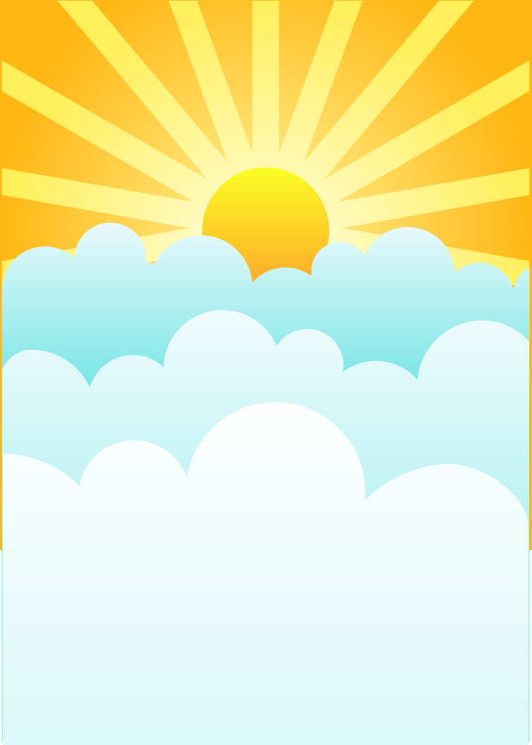 754x1056 Clouds With Sun Clipart