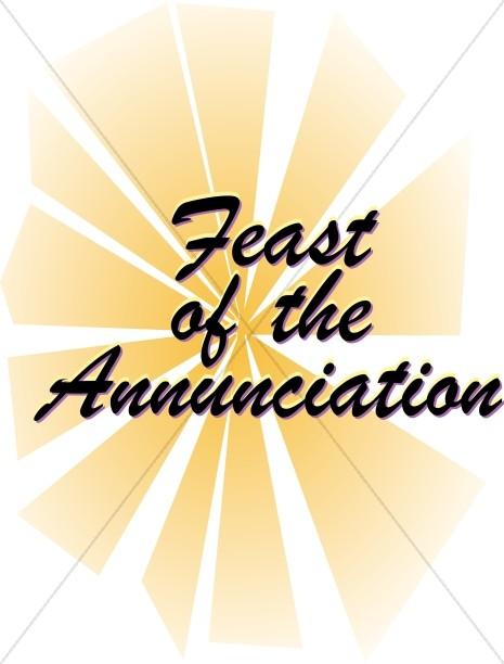 465x612 Feast Of The Annunciation Script With Sun Rays Nativity Word Art