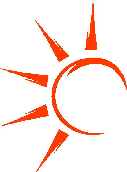 438x593 Half Sun With Rays Clipart