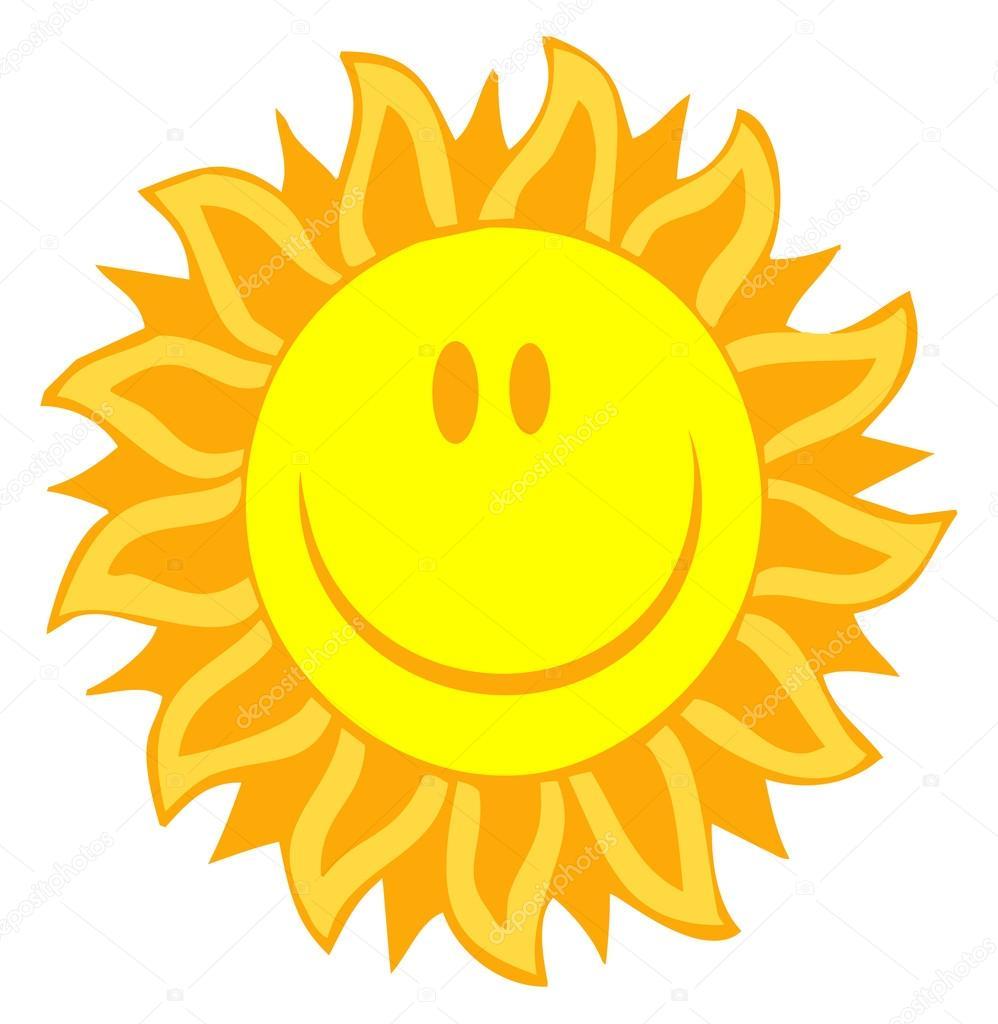 998x1024 Happy Sun Face With Petal Like Rays Stock Photo Hittoon