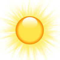 200x200 Small Sun Clipart