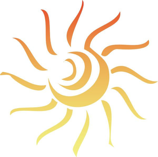 600x597 Best Sun Rays Tattoo Ideas Wave Tattoo Design
