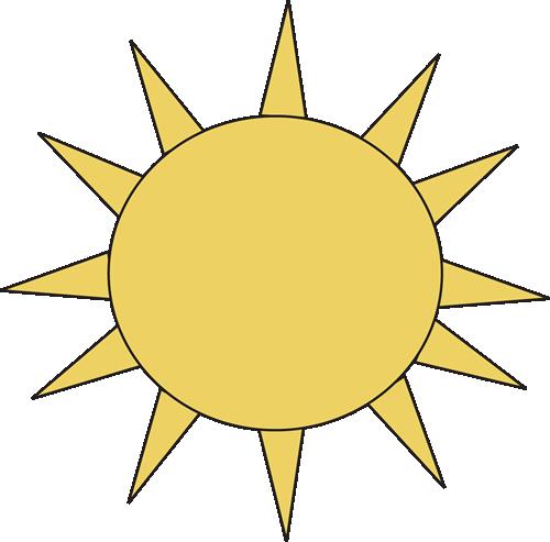 500x493 Sun For Letter S Clip Art