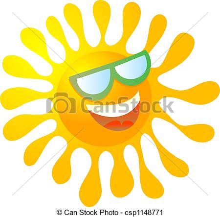 450x443 Gallery For Gt Sun With Shades Clipart
