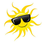 169x167 Happy Sun Mascot Cartoon Character With Shades Stock Photo