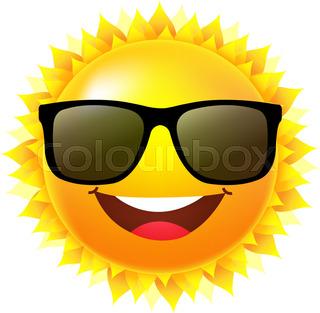 320x313 Summer Sun Wearing Sunglasses Stock Vector Colourbox