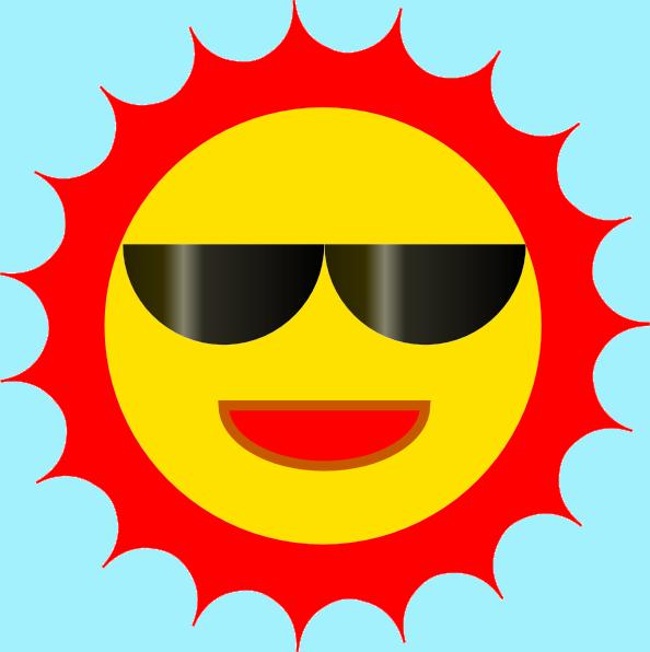 594x596 Sun Wearing Sunglasses Clip Art