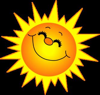 333x318 Sun With Shades Clipart S Sun Clipart