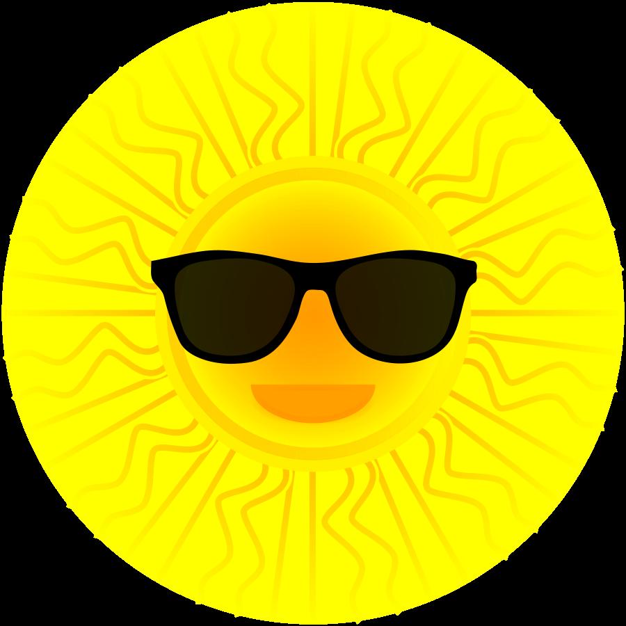 900x900 Sun With Sunglasses Clipart