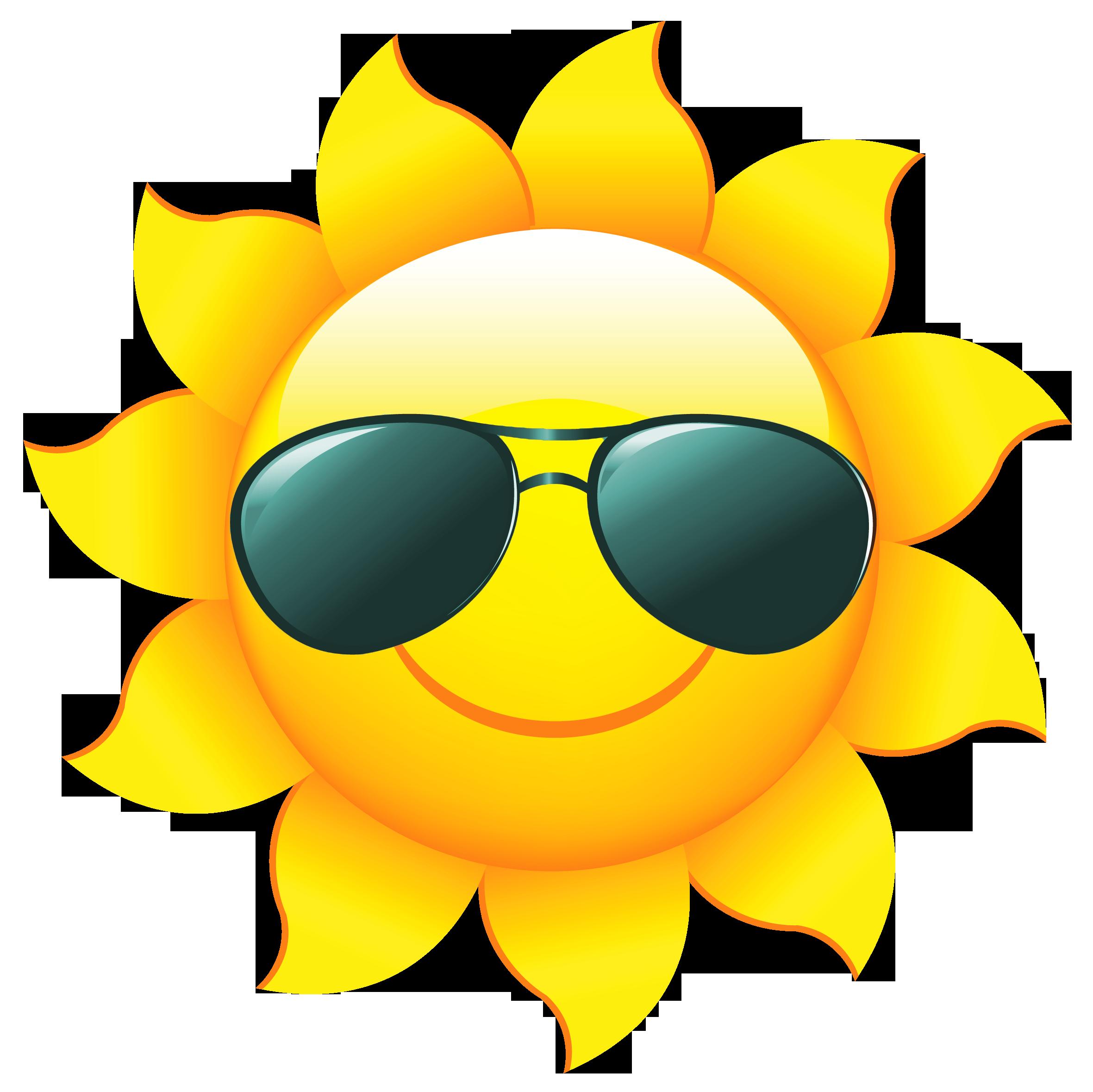 2361x2358 Sun With Shades Clipart Clipart Panda