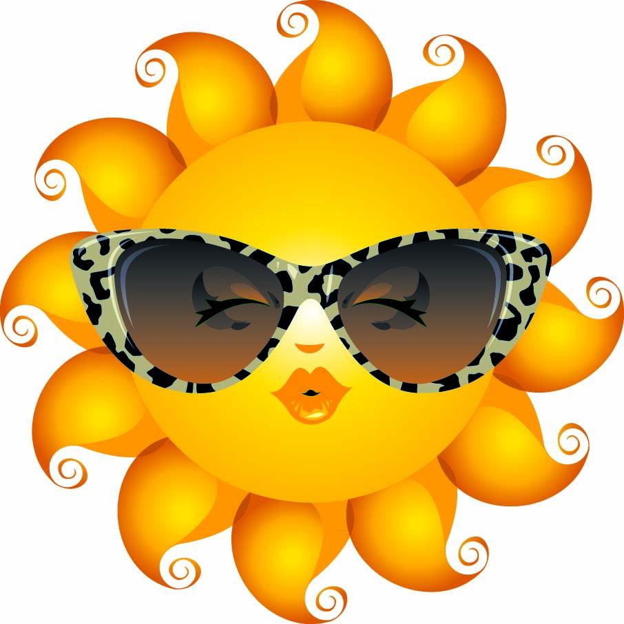 906x906 Sun With Sunglasses Emoticon