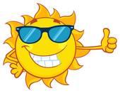 170x131 Clip Art Of Cool Sun Wearing Shades K5914169