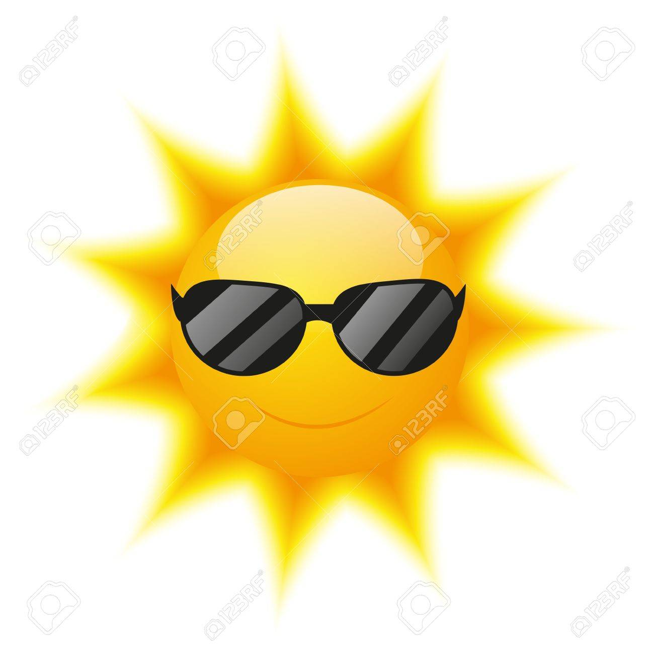 1300x1300 Cute Sun Character With Sunglasses Royalty Free Cliparts, Vectors