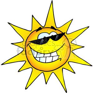 300x300 Royalty Free 12888 Rf Clipart Illustration Smiling Sun