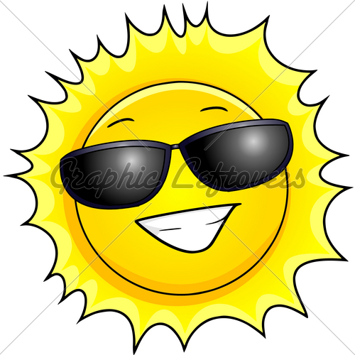 500x500 Smiling Sun With Sunglasses Clipart Panda