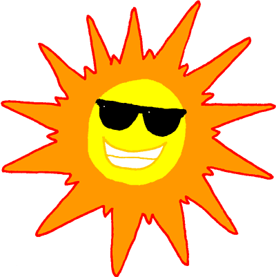 400x401 Summer Sunglasses Cliparts
