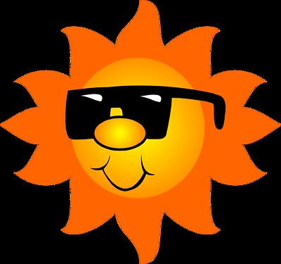 400x375 Sun Wearing Sunglasses Clipart Panda