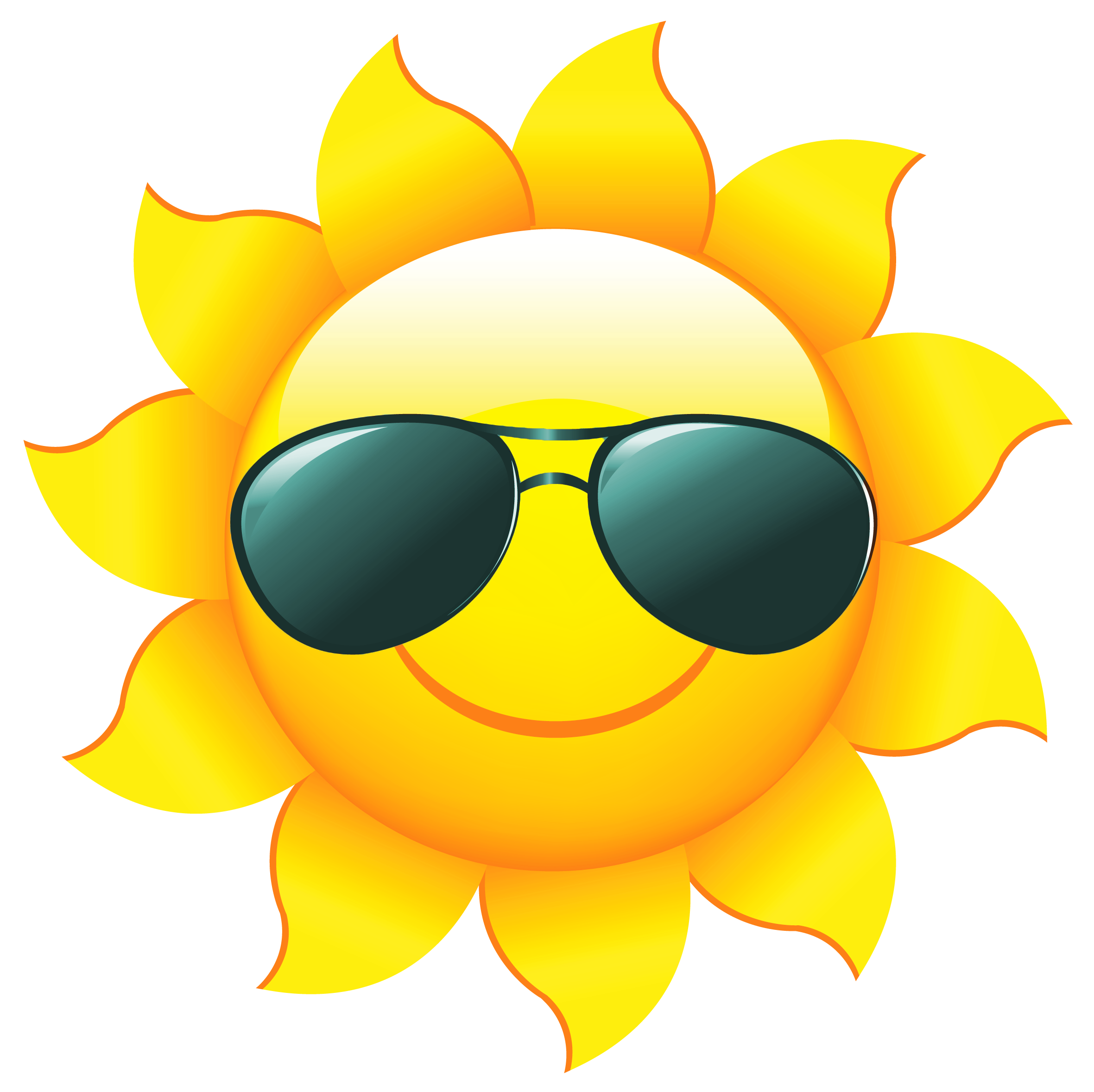 2361x2358 Sun With Sunglasses Clipart