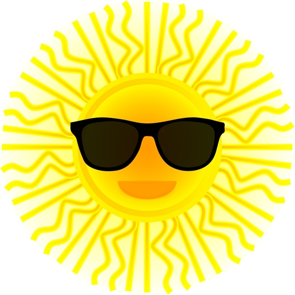 600x600 Sun With Sunglasses Free Vector In Open Office Drawing Svg ( Svg