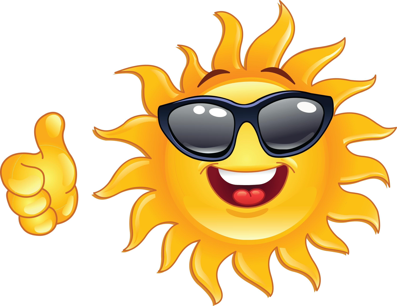3000x2313 Sunglasses Clipart Happy Sun