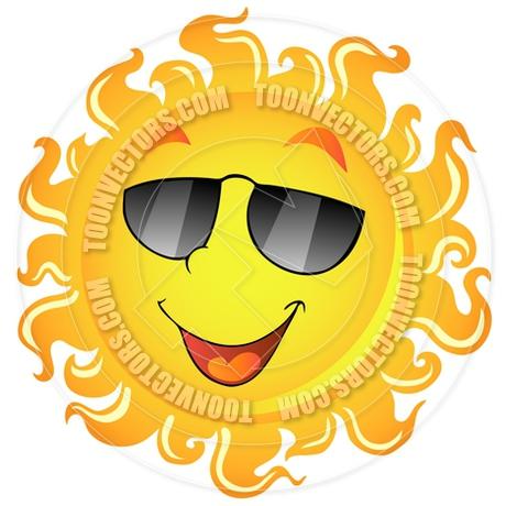 460x460 Sun With Sunglasses Clipart