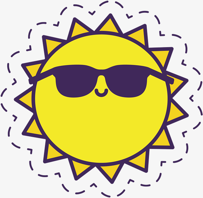 650x634 The Little Sun With Sunglasses, Vector Png, Sunlight, Cartoon Sun