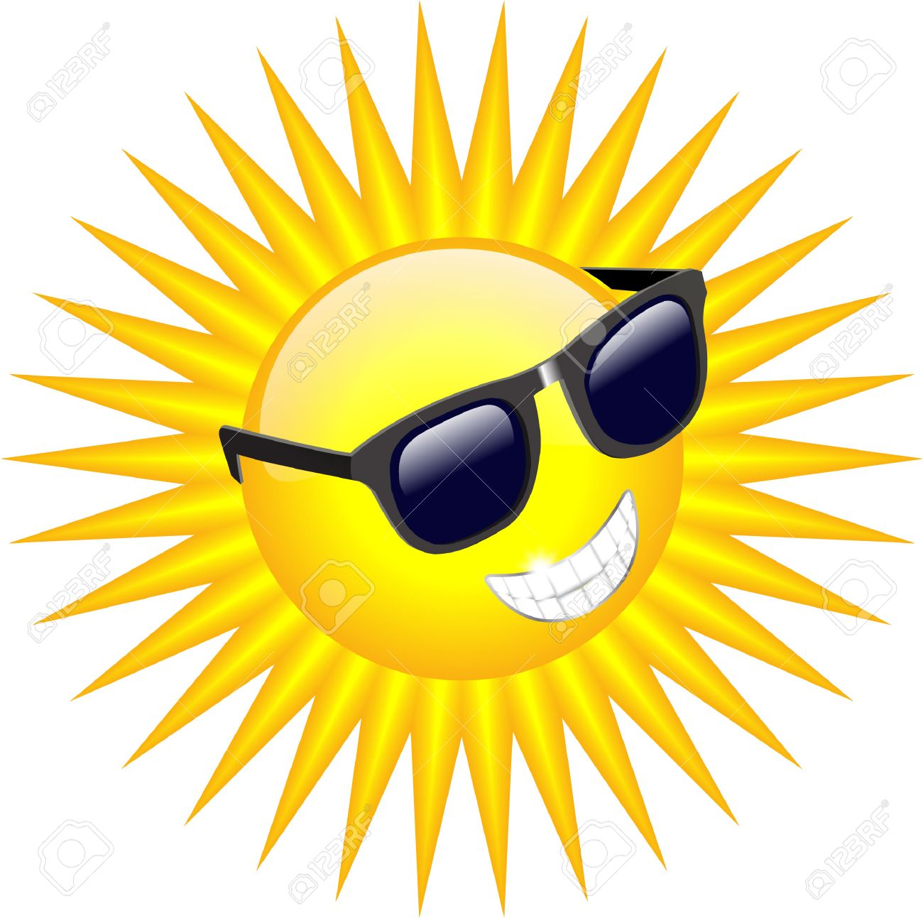 1300x1293 Cool Sun With Sunglasses Royalty Free Cliparts, Vectors, And Stock