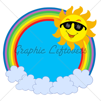 325x325 Cartoon Sun With Sunglasses Gl Stock Images