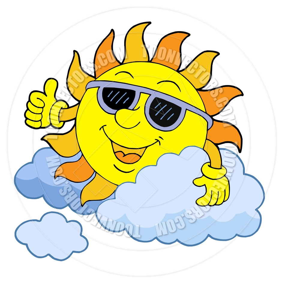 940x940 Cartoon Sun With Sunglasses By Clairev Toon Vectors Eps