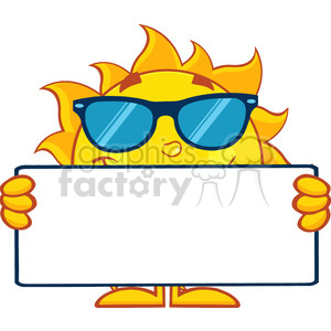 300x300 Royalty Free 10121 Cute Sun Cartoon Mascot Character
