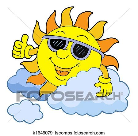 450x443 Stock Illustration Of Sun With Sunglasses K1646079