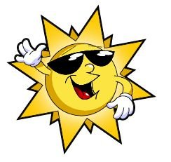 244x231 Sunshine Clipart Sun Sunglasses