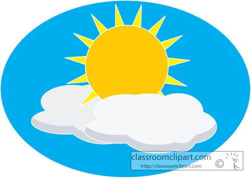 500x356 The Sun Through Clouds Clip Art Cliparts