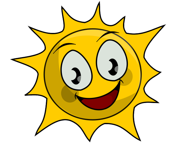 640x480 Cartoon Sunshine Clipart