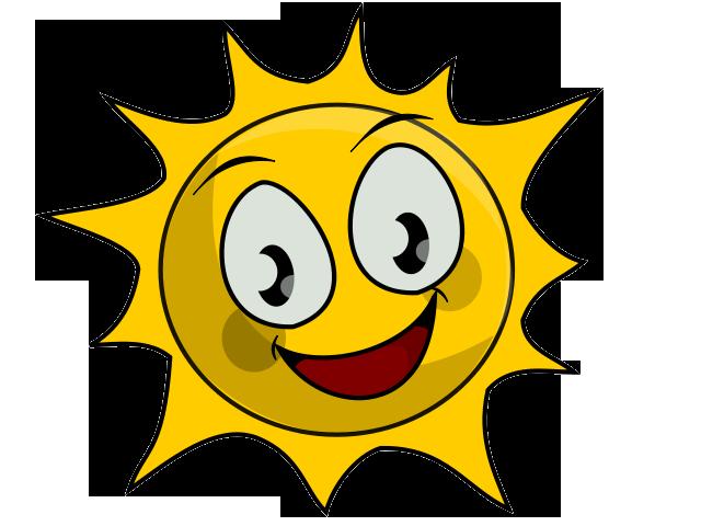 640x480 Cartoon Sunshine Clipart