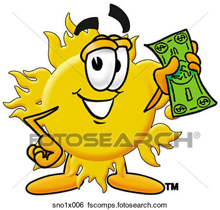 450x429 Clip Art Of Sun With Money Sno1x006