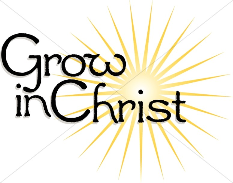 776x609 Grow In Christ Sunburst Jesus Wordart