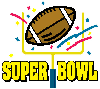 418x369 2016 Super Bowl Sunday Clipart
