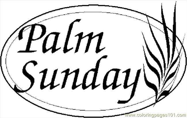 650x411 Palm Sunday 2 Coloring Page Free Holidays Pages Clip Art
