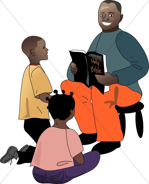 494x612 African American Teacher And Students Sunday School Clipart