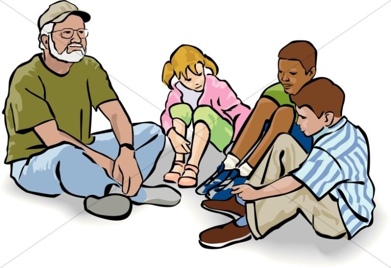 776x532 Teacher With Kids Sunday School Clipart