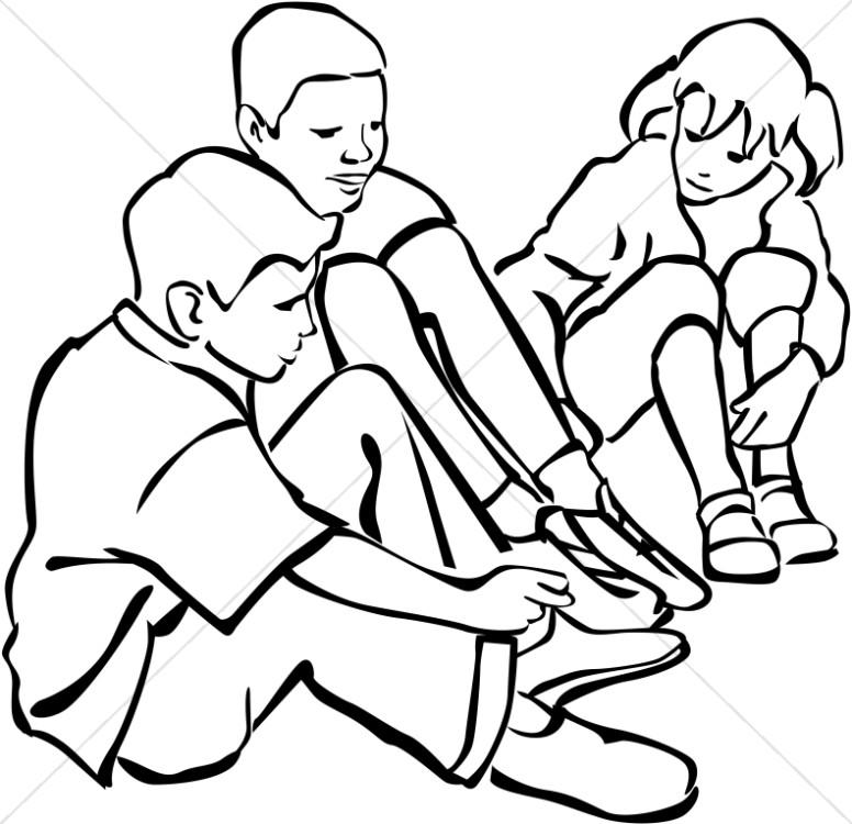 776x750 Children In A Circle Sunday School Clipart