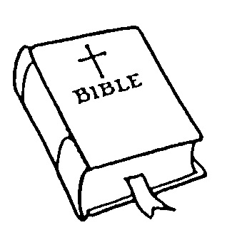 318x323 Bible Clipart Black And White